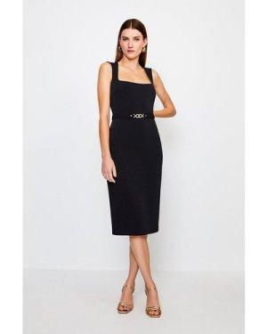 Karen Millen Square Neck Pencil Dress -, Black