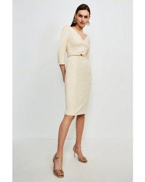 Karen Millen Forever Bar Belt Dress -, Cream