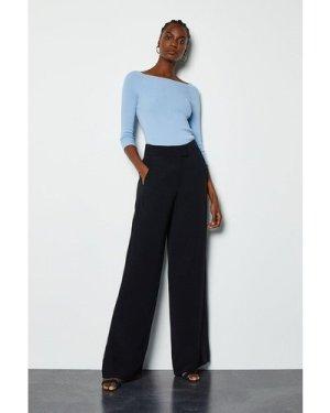 Karen Millen Soft Tuxedo Trouser -, Black