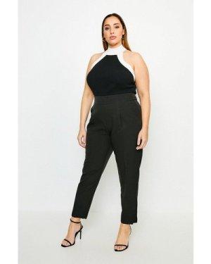 Karen Millen Curve Tailored High Waist Trouser -, Black