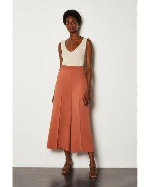Karen Millen Wide Leg Soft Tailored Trouser -, Tan