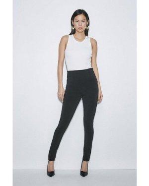 Karen Millen Label Italian Technical Jersey Legging -, Black