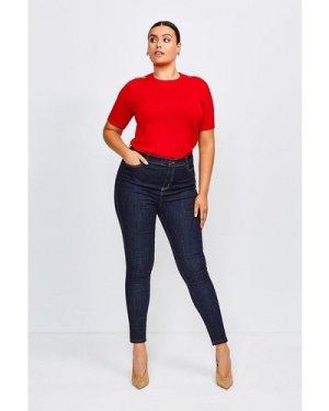 Karen Millen Curve 5 Pocket Skinny Jean -, Indigo