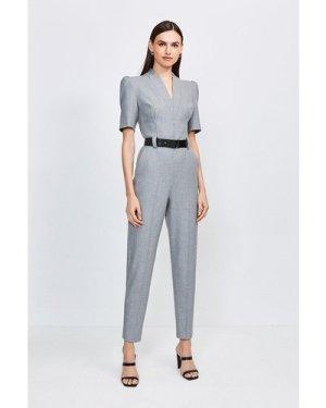Karen Millen Forever Jumpsuit -, Grey
