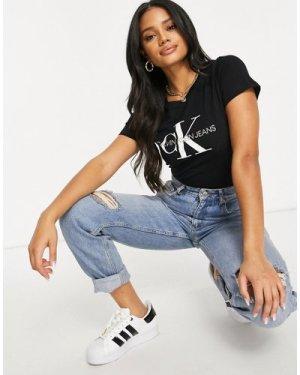 Calvin Klein Jeans logo t-shirt-Black