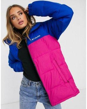 Columbia Pike Lake jacket in pink/blue Exclusive at ASOS-Purple