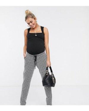 Mamalicious gingham trousers-Multi