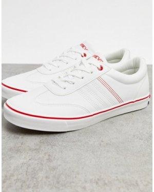 Le Breve premium suedette trainers in white