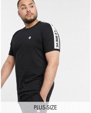 Le Breve Plus lounge t-shirts-Black