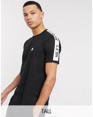 Le Breve Tall lounge t-shirt-Black