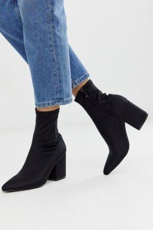 RAID Kinley pull on sock boots in black