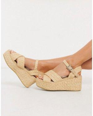 RAID Adalyn flatform sandals in natural-Beige
