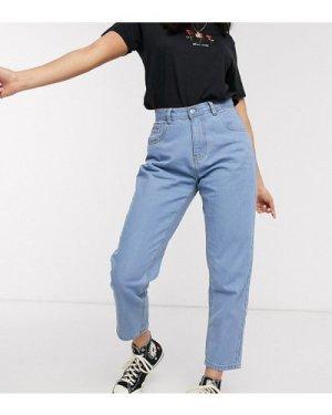 Wednesday's Girl mom jeans in light wash-Blue