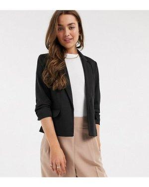 Miss Selfridge Petite ponte blazer in black