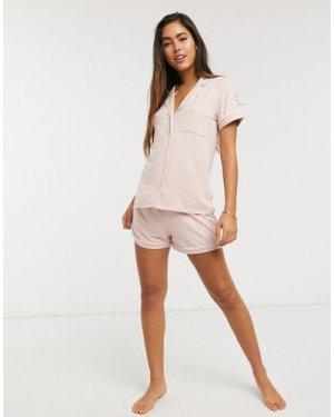 Lindex Chloe Eco Viscose pyjama shorts in pink