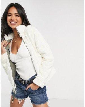 Columbia Bundle Up Reversible full zip fleece in white