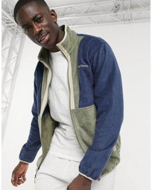 Columbia Back Bowl Full Zip fleece in khaki-Green