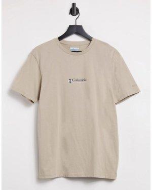 Columbia CSC Basic logo Retro t-shirt in beige-Grey