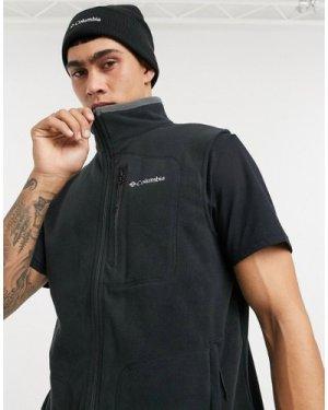 Columbia Fast Trek fleece vest in black