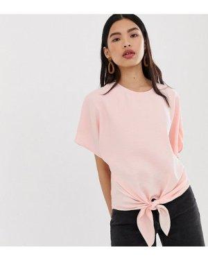 Mango tie side blouse in pink