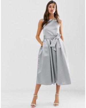 Closet v back full skirt dress-Grey