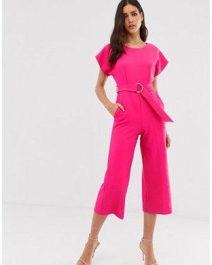Closet kimono cropped leg jumpsuit-Pink