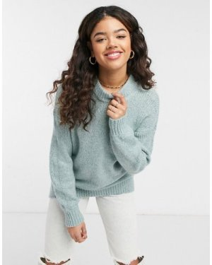 Abercrombie & Fitch marl crew neck jumper in mint-Green
