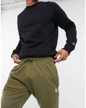 Le Breve raw edge jersey shorts in khaki-Green