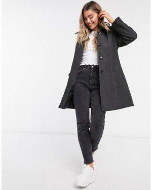 Liquorish hooded coat in dark grey