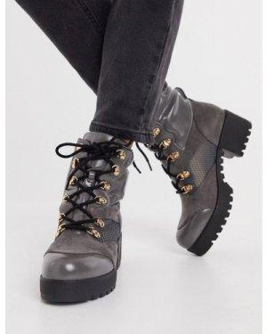RAID Acorn chunky hiker boots in grey mix