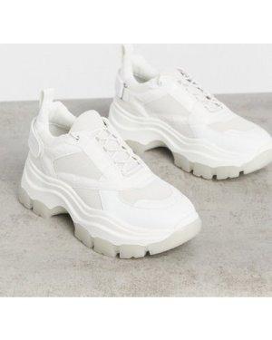 RAID Malibu chunky trainers in white