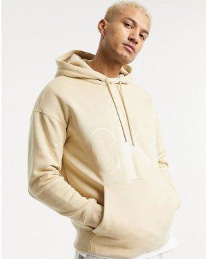 Calvin Klein Jeans tonal logo eco hoodie in beige