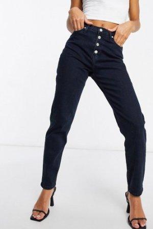 Calvin Klein Jeans mom jean in blue black-Navy