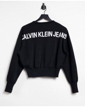 Calvin Klein Jeans back logo sweatshirt in black