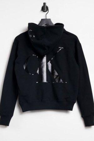 Calvin Klein Jeans back logo hoodie in black