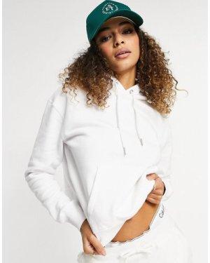 Calvin Klein Jeans logo hoodie in white