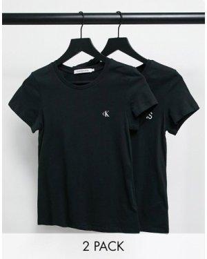 Calvin Klein 2 pack tee in black