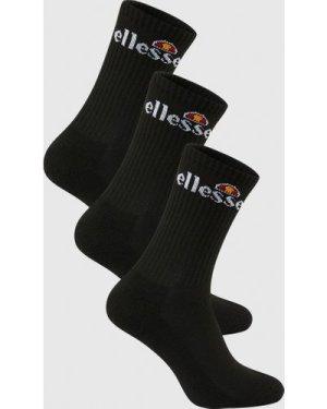 Arrom 3 Pack Sports Socks Black