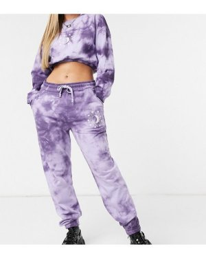 Wednesday's Girl relaxed joggers with celestial print co-ord-Purple