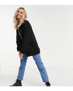 Wednesday's Girl teddy coat-Black