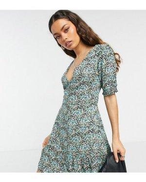 Miss Selfridge Petite tea dress in blue