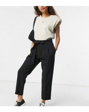 Miss Selfridge Petite slim leg trousers in black