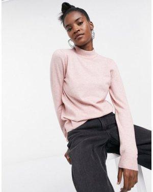 Object Thess turtleneck longsleeve knit jumper in pink