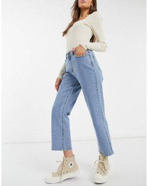 Object Moji straight leg jean in blue