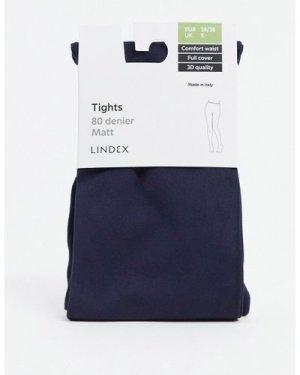 Lindex 80 denier full cover & matt tights in navy