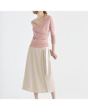 Marylebone side pleated skirt