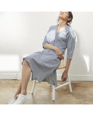 Pam striped midi dress