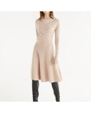 Cara knitted wrap dress