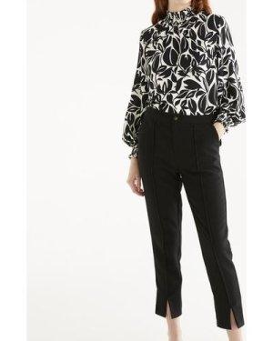 Leigh print blouse