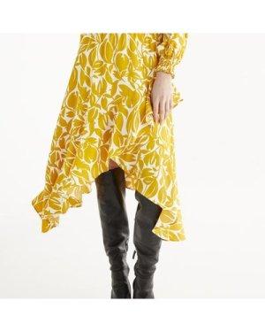 Leigh print frill skirt